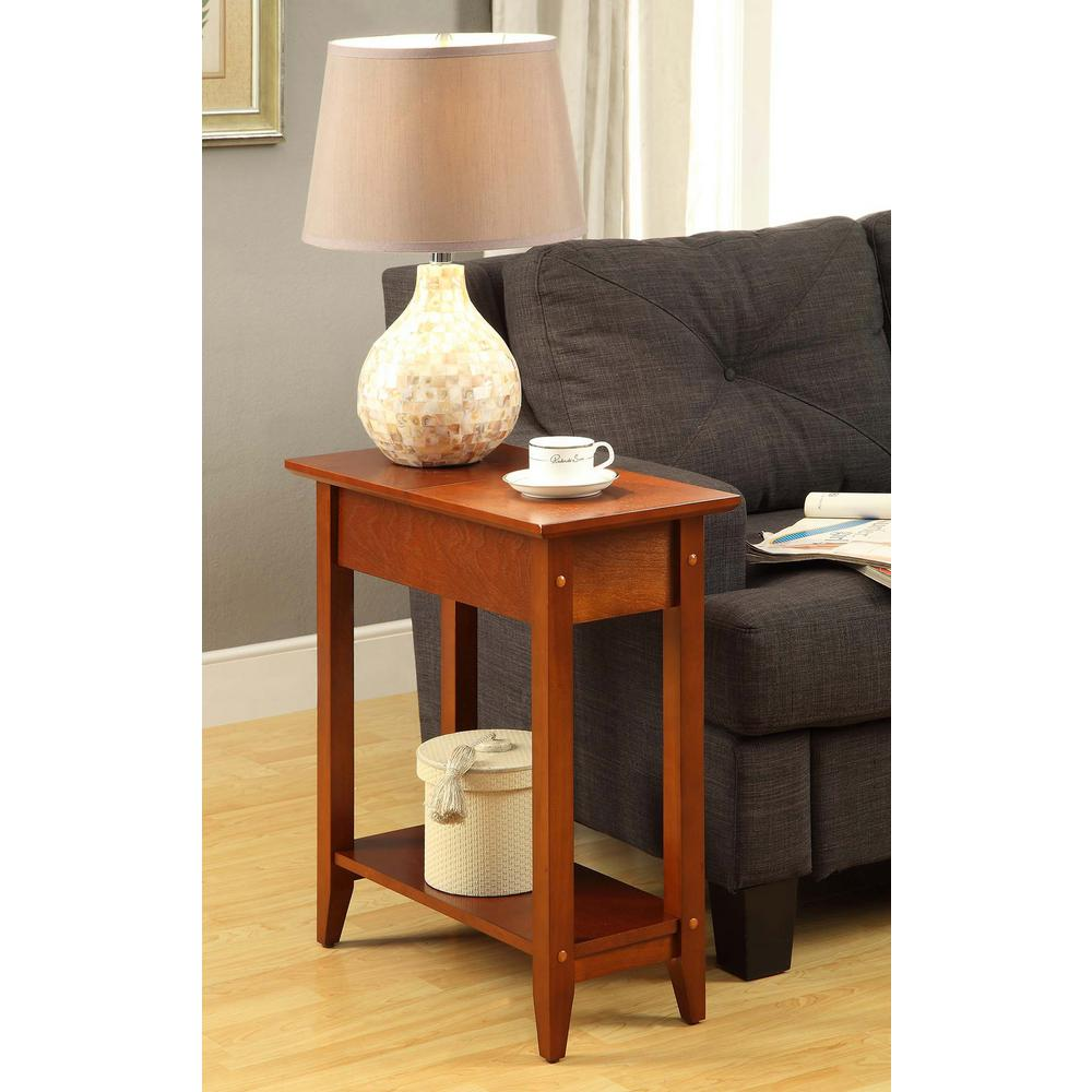 American Heritage Cherry Flip Top End Table