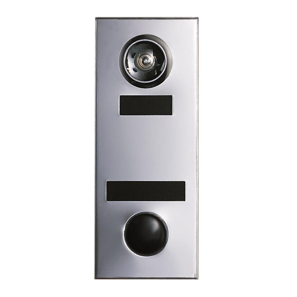 145-Degree Silver Chrome Door Viewer with Mechanical Chime