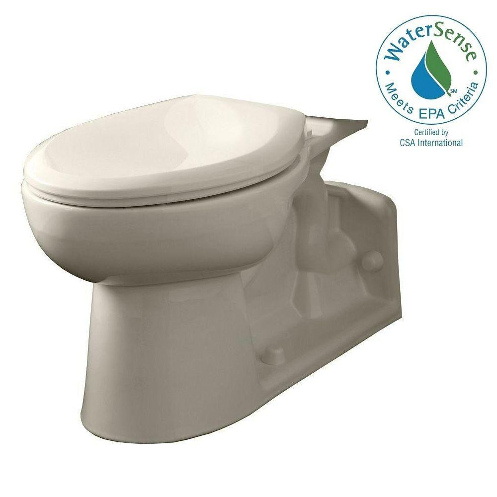 American Standard Yorkville Pressure-Assisted 1.1 and 1.6 GPF Elongated Toilet Bowl Only in Linen