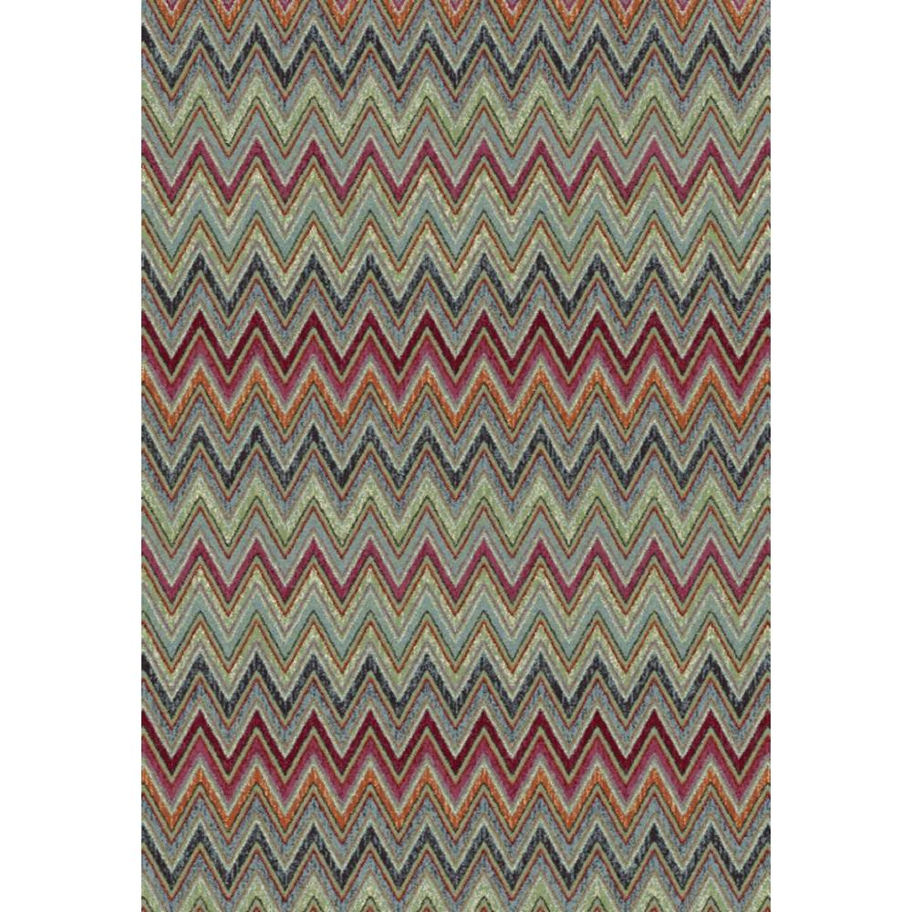 Dynamic Rugs Infinity Red Multi 6 ft. 7 in. x 9