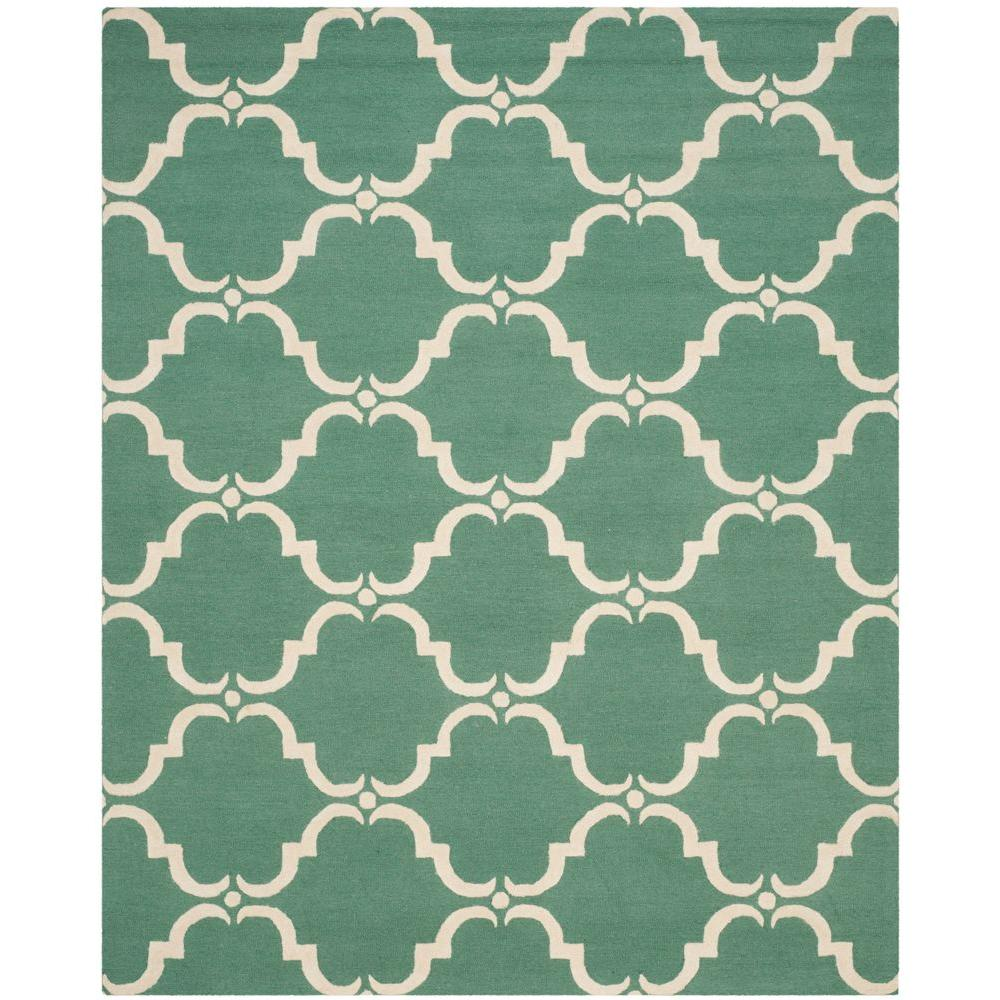 Cambridge Teal/Ivory 8 ft. x 10 ft. Area Rug
