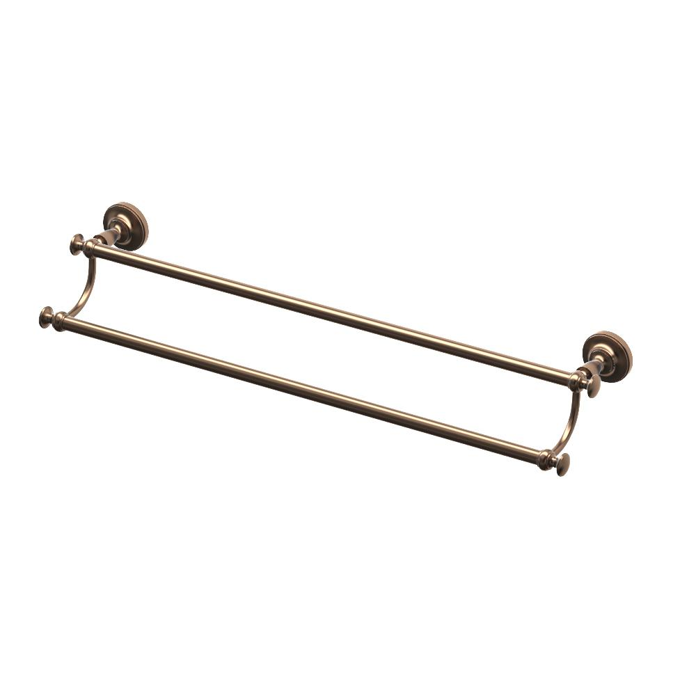 Gatco Tavern 24 in. Double Towel Bar in Bronze