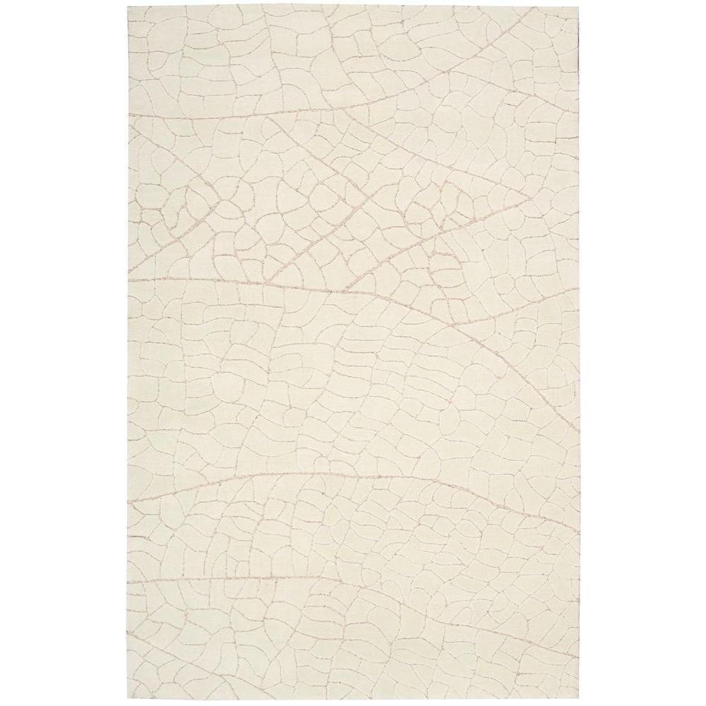 Escalade Ivory 5 ft. x 7 ft. 6 in. Area Rug