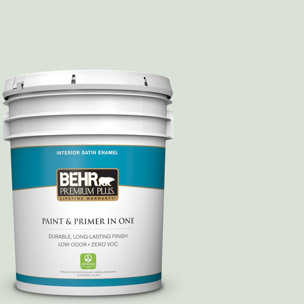 5-gal. #N390-1 Light Mist Satin Enamel Interior Paint