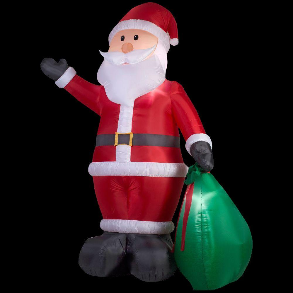 12 ft. Lighted Inflatable Santa with Gift Sack