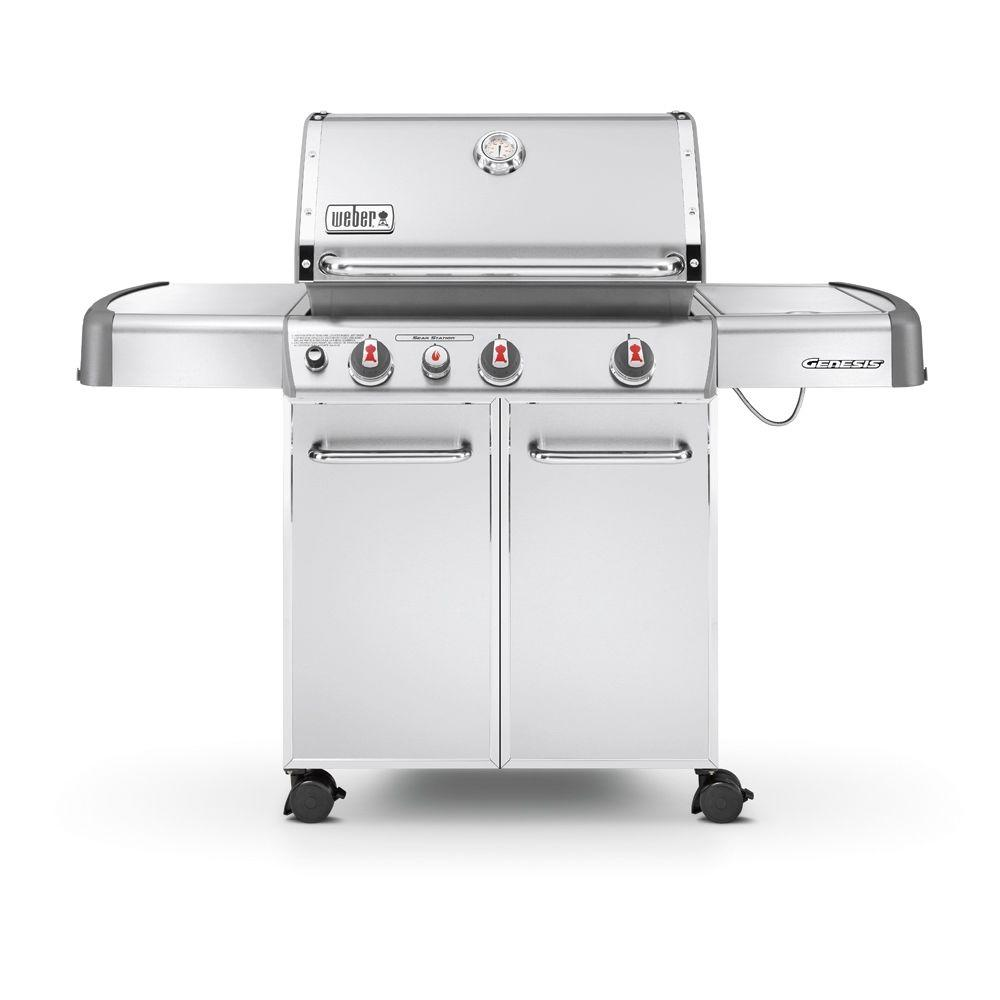 Weber Genesis S-330 3-Burner Natural Gas Grill in Stainless Steel-6670001 -