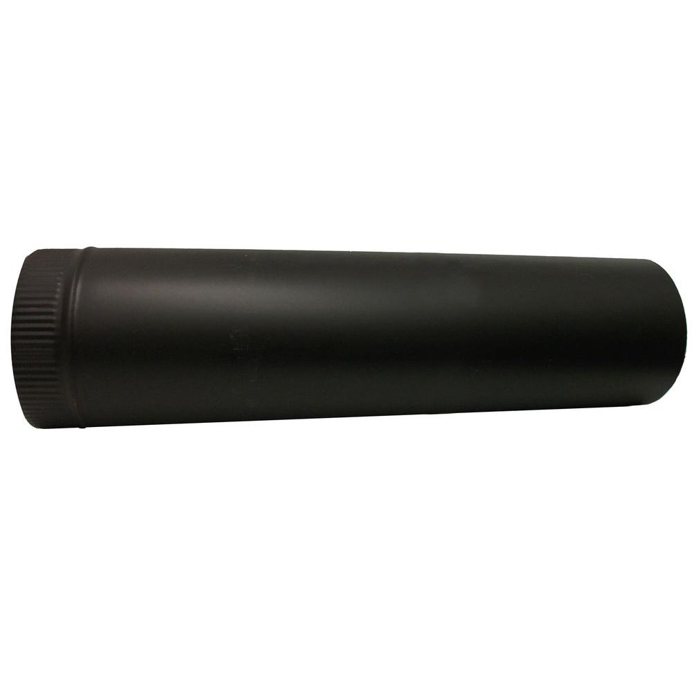 6 in. x 24 in. Black Stove Pipe