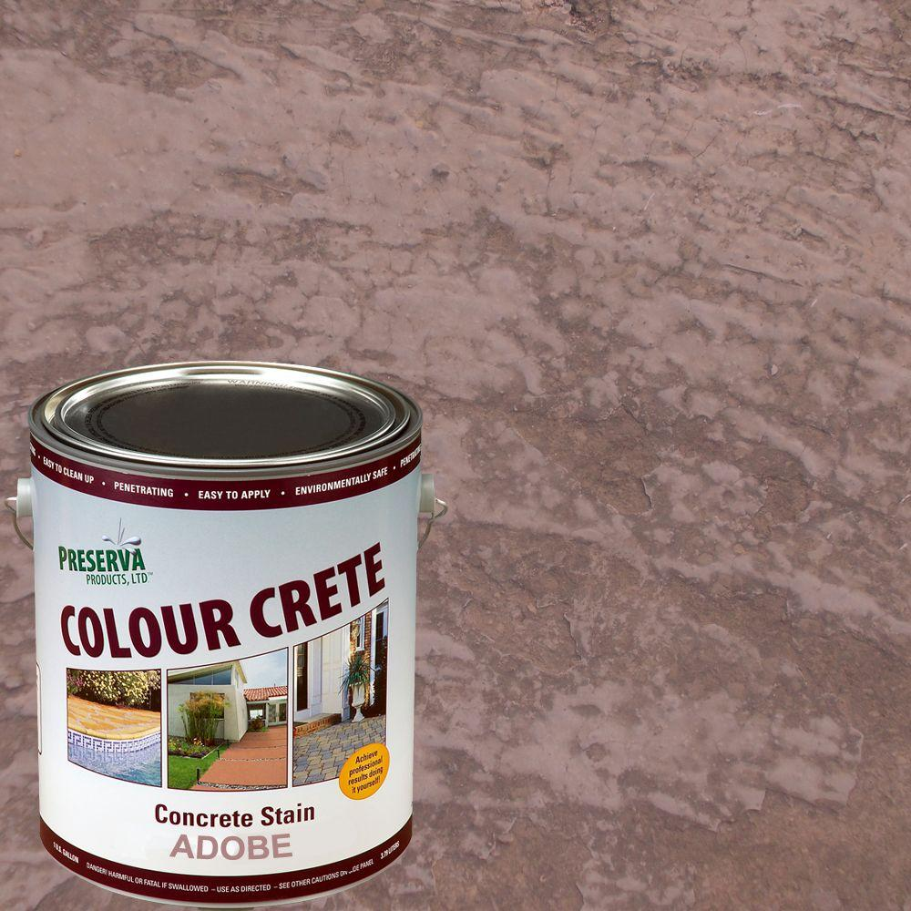 1 gal. Adobe Semi-Transparent Water-Based Concrete Stain