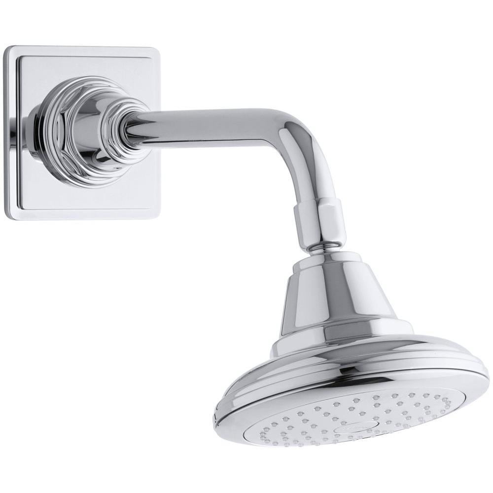 Pinstripe 1-spray Single Function 5.5625 in. Raincan Showerhead with Katalyst
