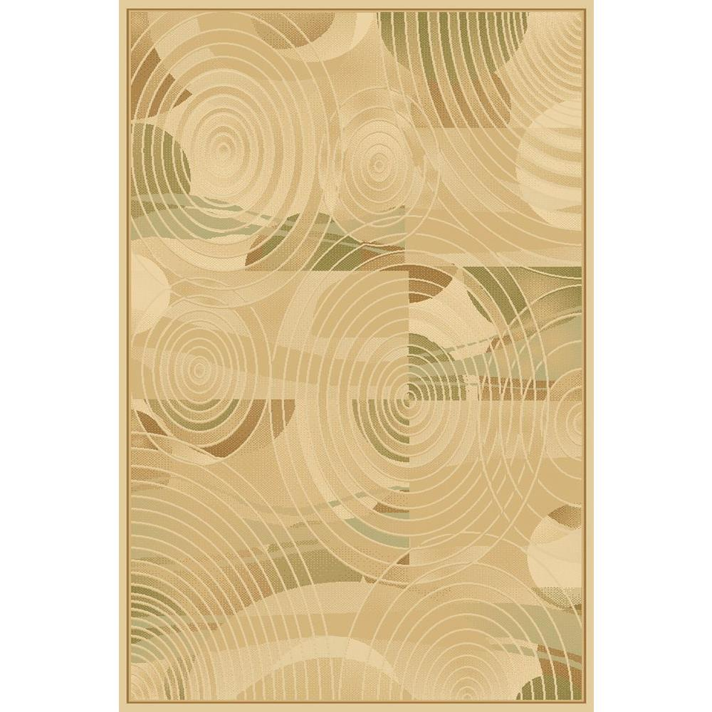 LA Rug Circles Cream Crown Collection 39 in. x 58 in. Indoor Area Rug