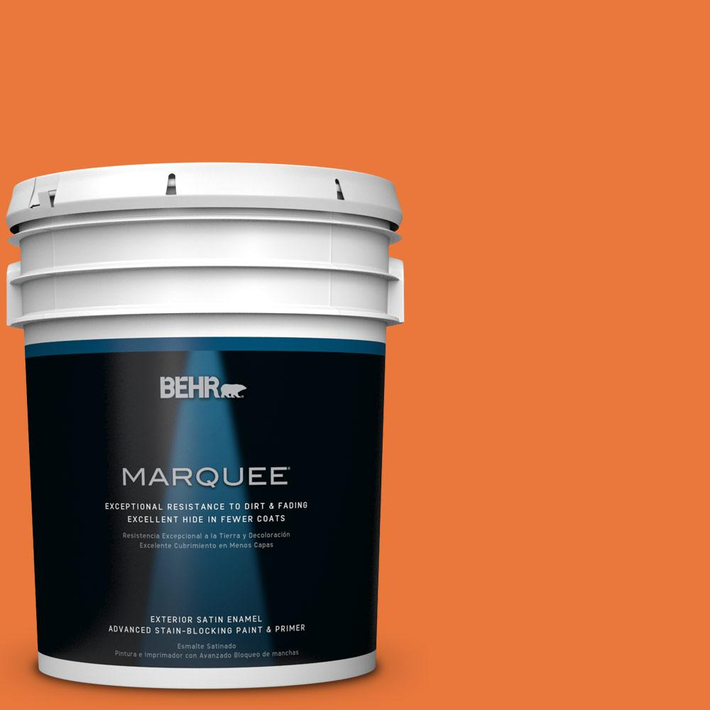 BEHR MARQUEE 5-gal. #S-G-250 Solar Flare Satin Enamel Exterior Paint