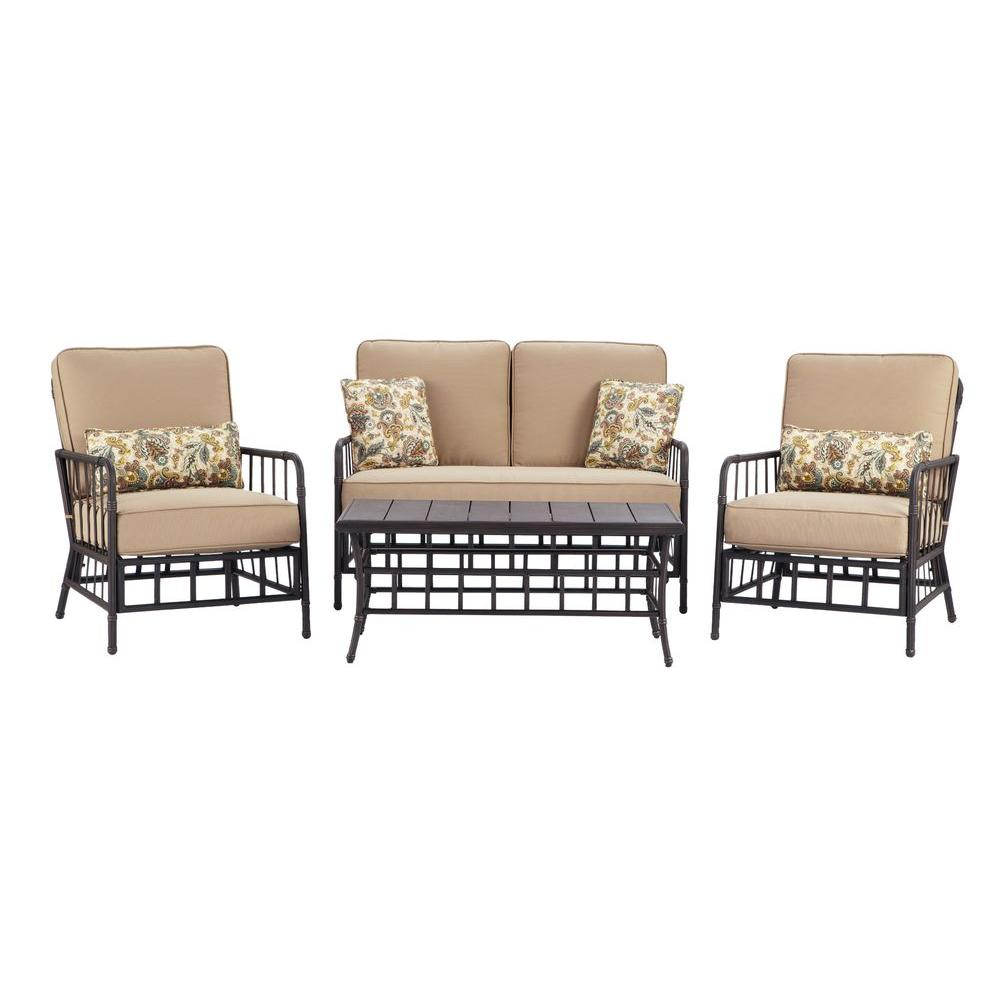 Martha Stewart Living Bryant Cove 4-Piece Patio Seating Set