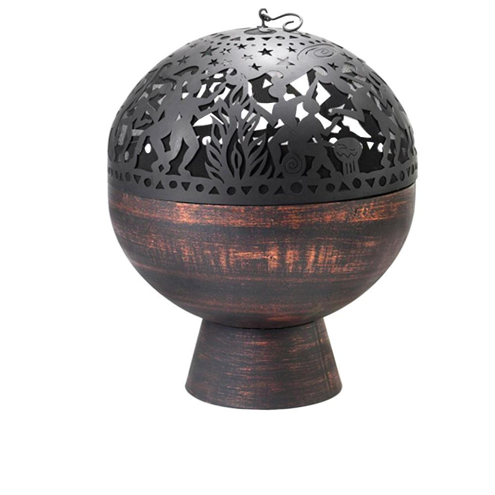 26 in. Fire Bowl with Full Moon Party FireDome
