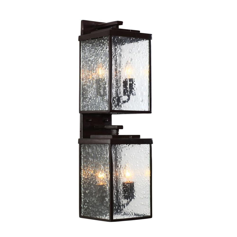 Varaluz Mission You 4-Light Glossy Bronze Outdoor Sconce with Pressed