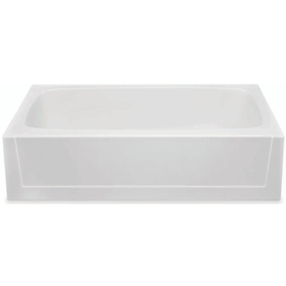 Aquatic Catalina 5 ft. Gelcoat Right Hand Drain Soaking Tub in White