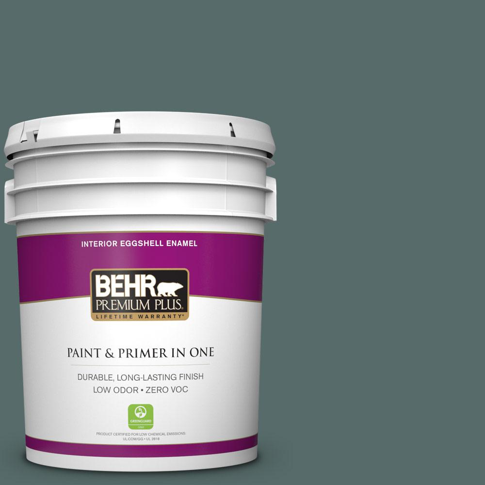 5 gal. #490F-6 Agave Frond Zero VOC Eggshell Enamel Interior Paint