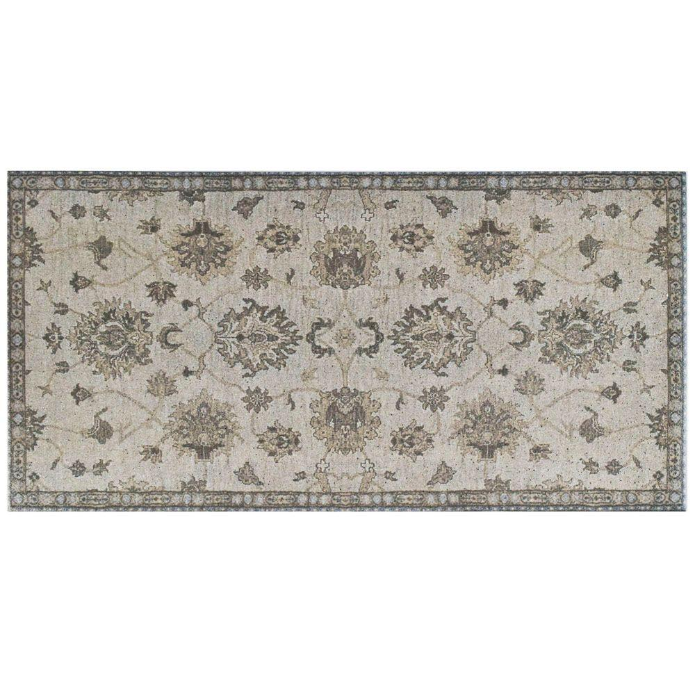 Merola Tile Kashmir Grey 11 in. x 22-1/8 in. Porcelain Floor