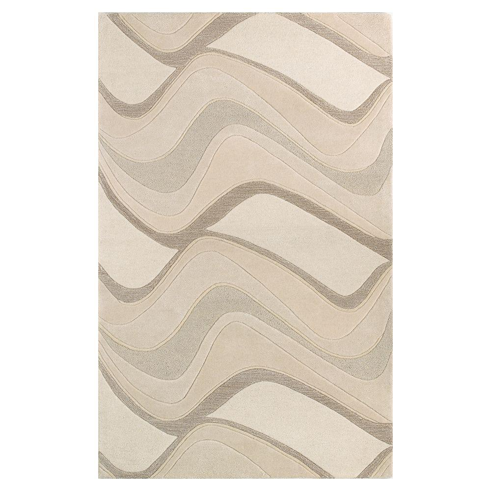 Soothing Waves Ivory 8 ft. x 10 ft. 6 in. Area