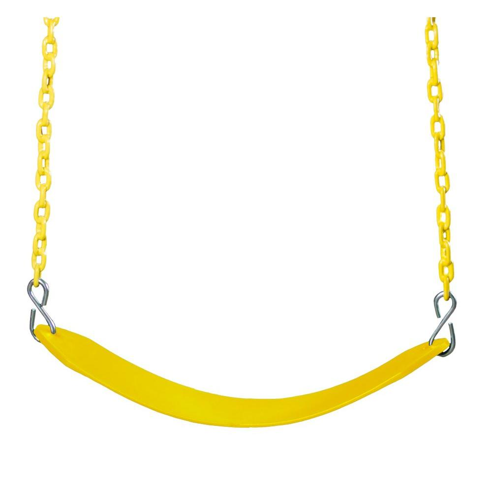 Gorilla Playsets Swing Belt with Chain in Yellow