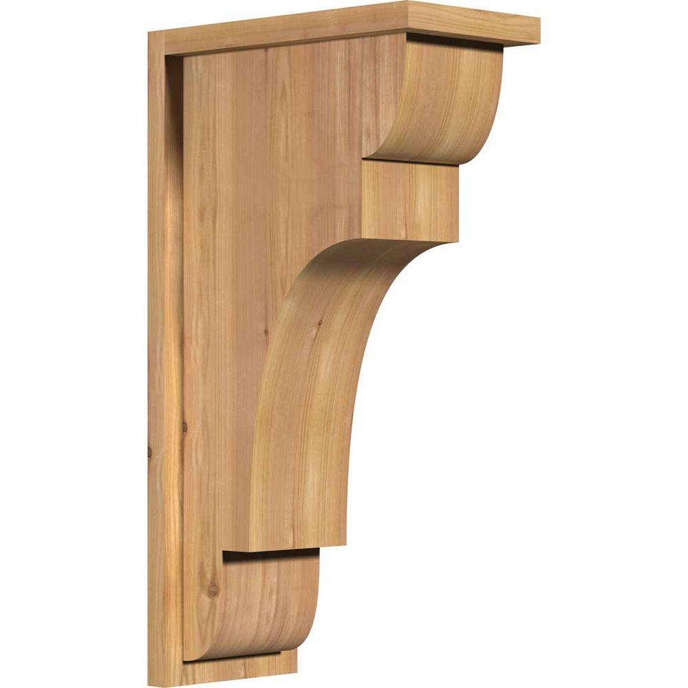 Ekena Millwork 7-1/2 in. x 14 in. x 26 in. New Brighton Smooth Western Red Cedar Corbel with Backplate