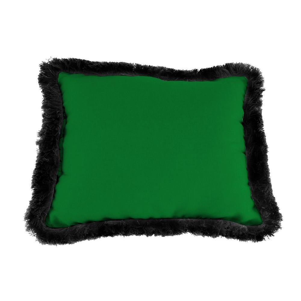 Sunbrella 19 in. x 12 in. Canvas Forest Green Outdoor Throw