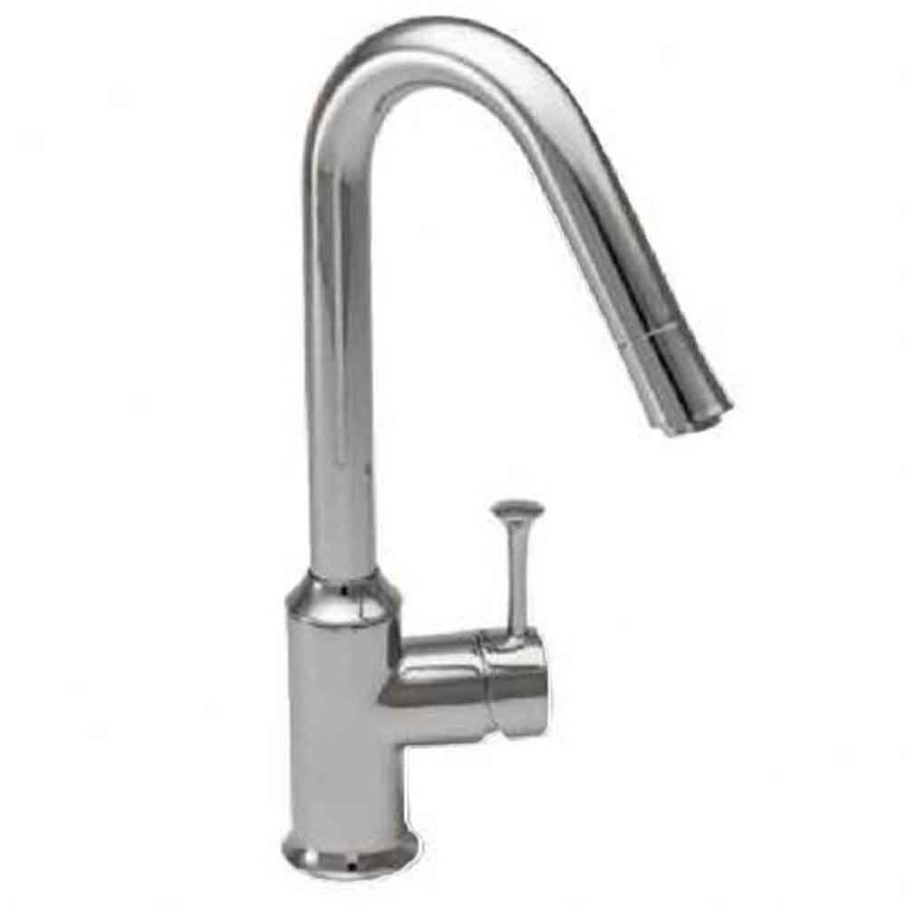 Pekoe Single-Handle Pull-Down Sprayer Kitchen Faucet with Hi-Flow in Stainless
