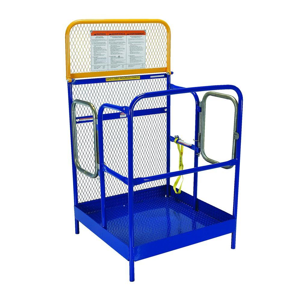 Vestil 36 in. x 36 in. Steel Work Platform with Dual Entrance