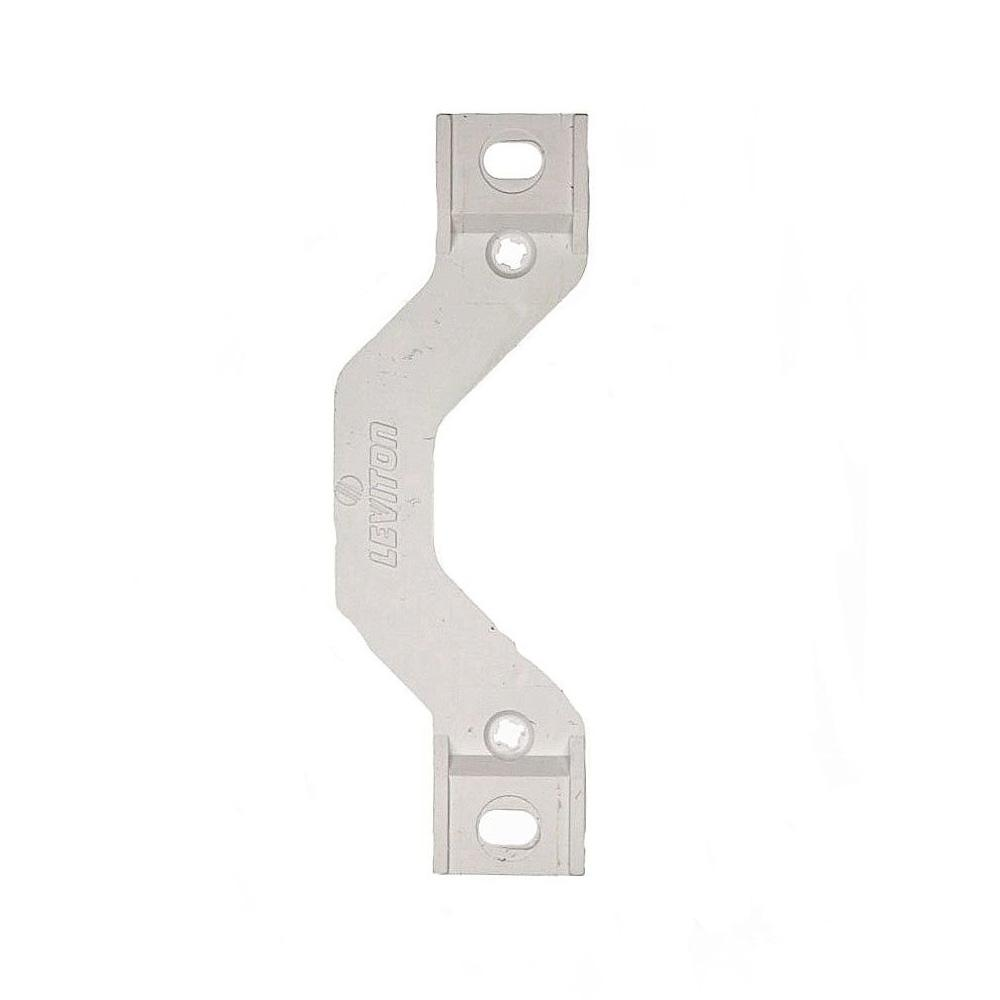 Yoke/Mounting Strap with Screws Plastic Wallplate Adapter in White