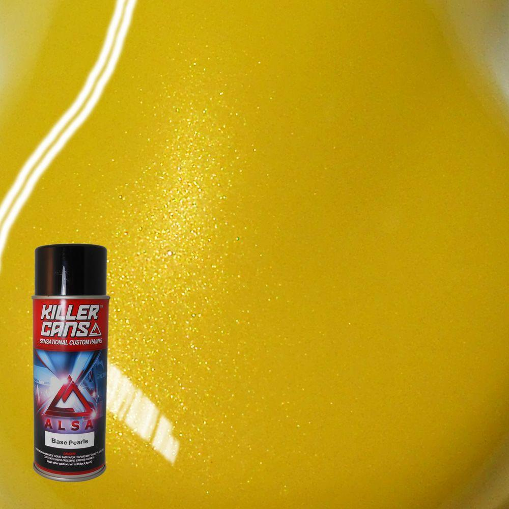 12 oz. Base Pearls Screaming Yellow Killer Cans Spray Paint
