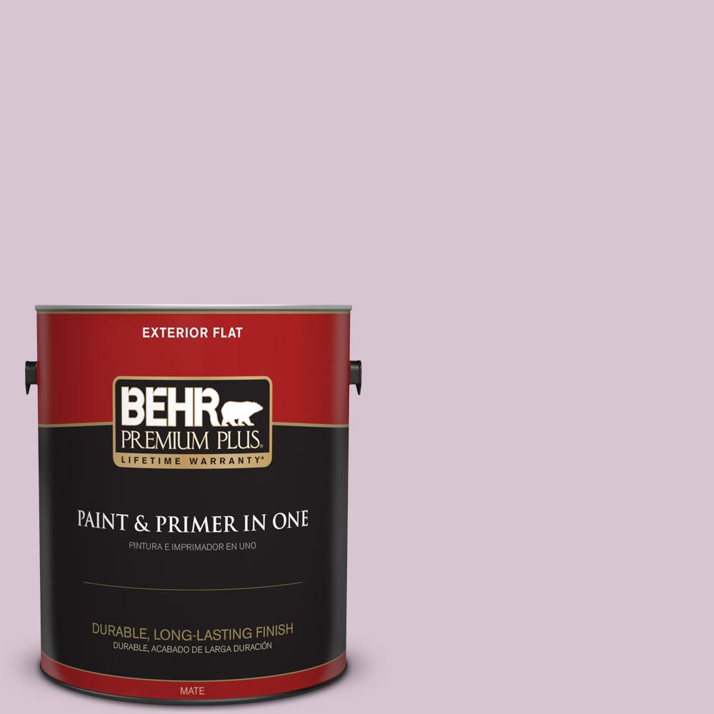 1-gal. #680E-3 Rosy Lavender Flat Exterior Paint