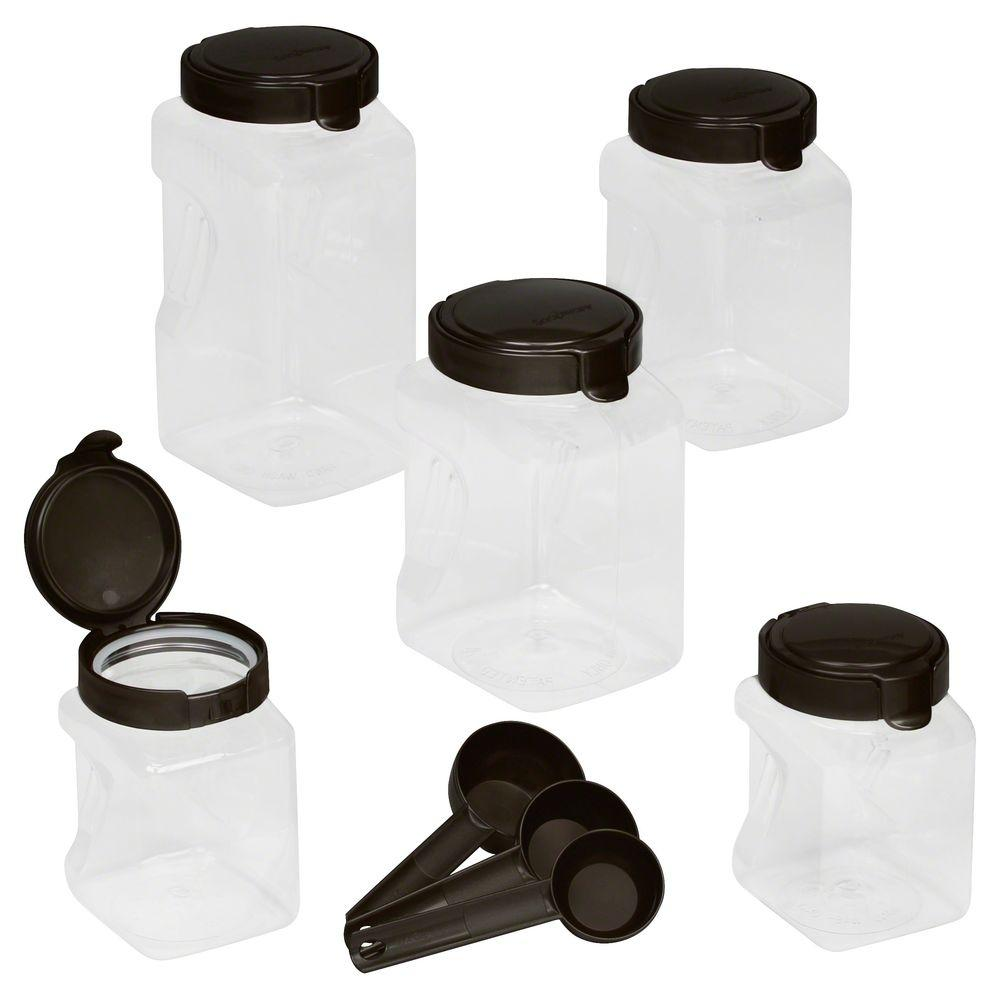 Airtight Food Storage Square Canister Set (10-Piece)