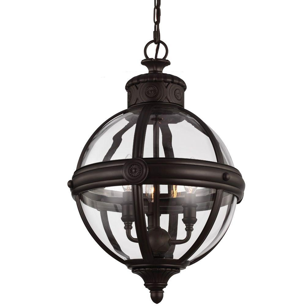 Feiss Adams 3-Light Oil Rubbed Bronze Pendant