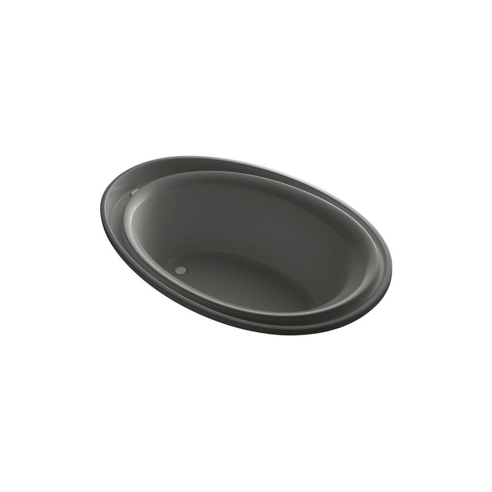 KOHLER Purist 6 ft. Reversible Drain Soaking Tub in Thunder Grey-DISCONTINUED