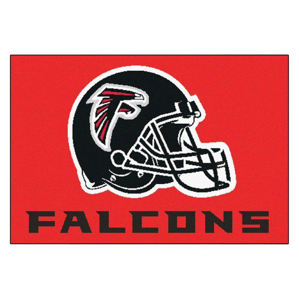 NFL - Atlanta Falcons Red Uniform Inspired 1 ft. 7 in. x 2 ft. 6 in. Accent Rug