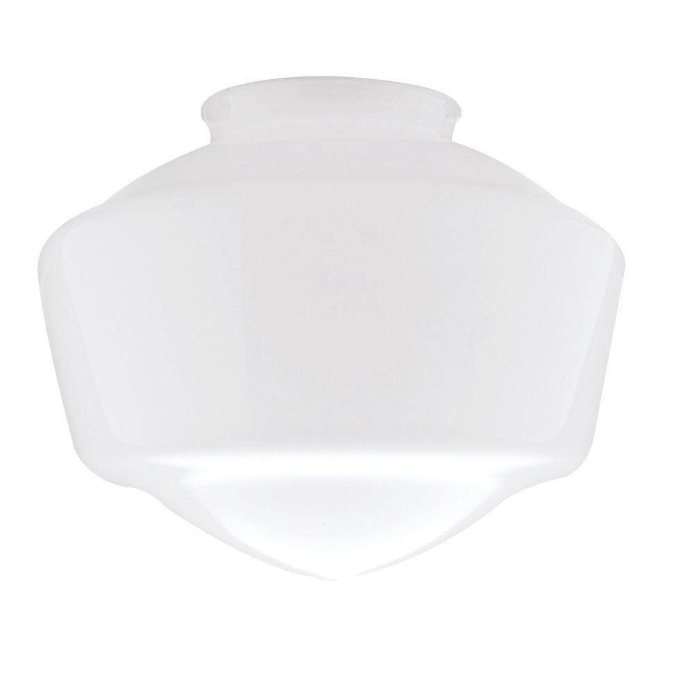 Westinghouse 7 in. Hand-Blown Opal Schoolhouse Shade with 4 in. Fitter