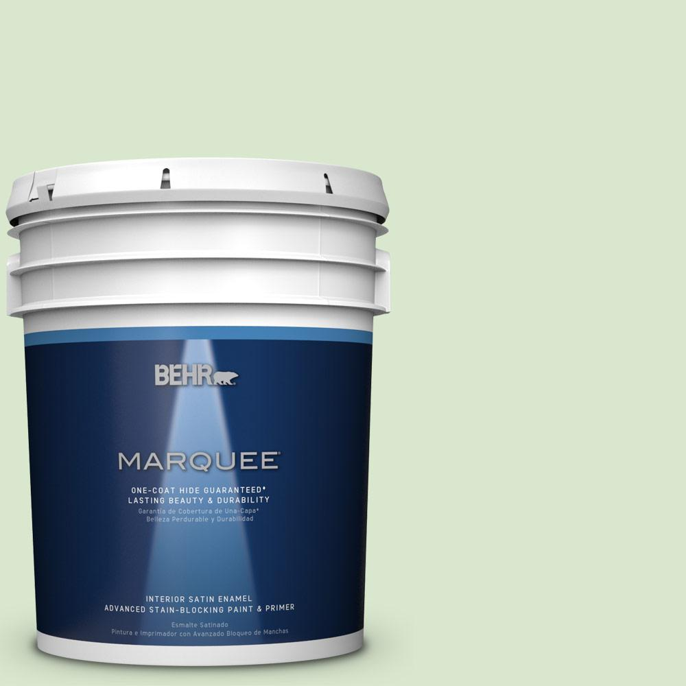 5 gal. #T12-18 Minty Frosting Satin Enamel Interior Paint