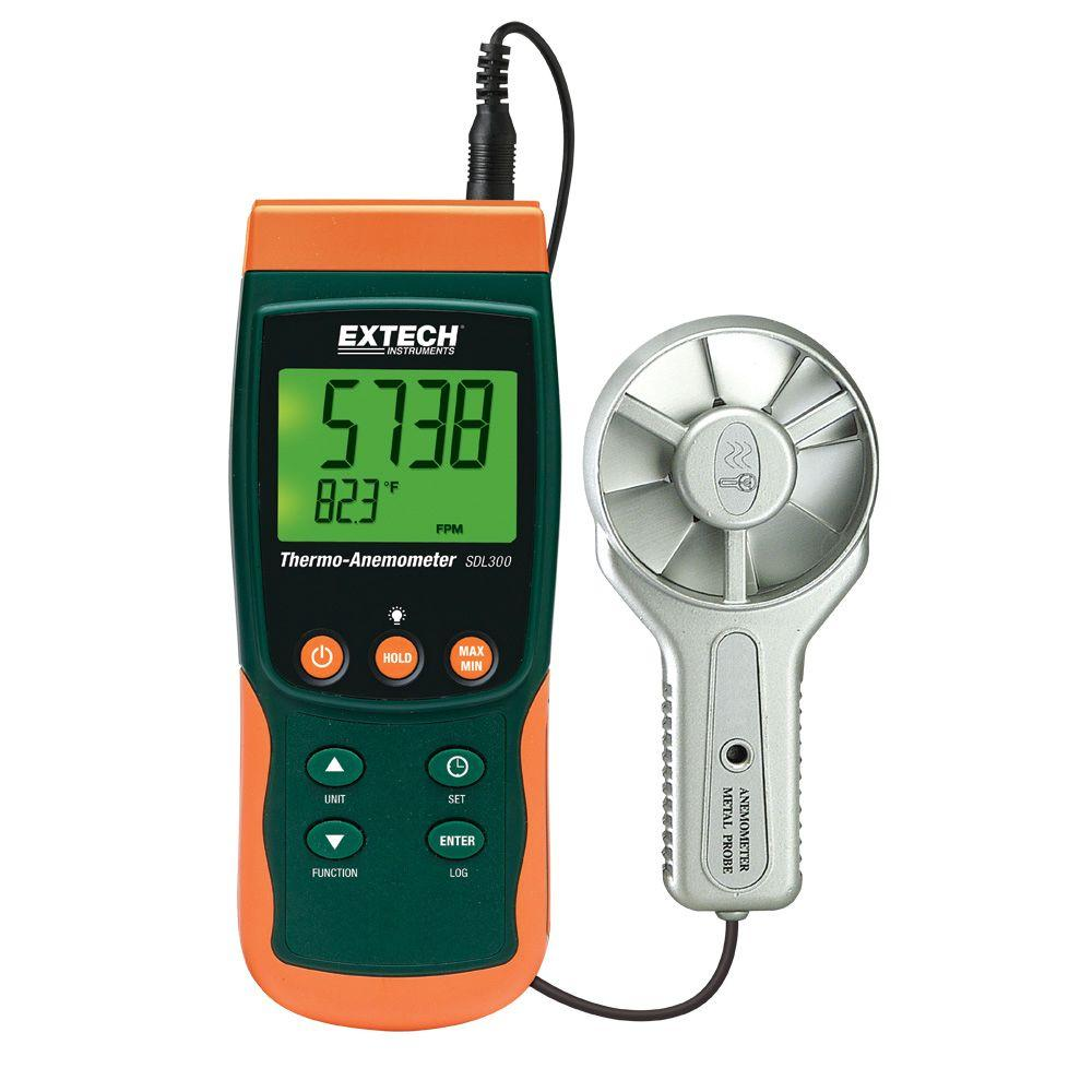 Metal Vane Thermo-Anemometer SD Logger