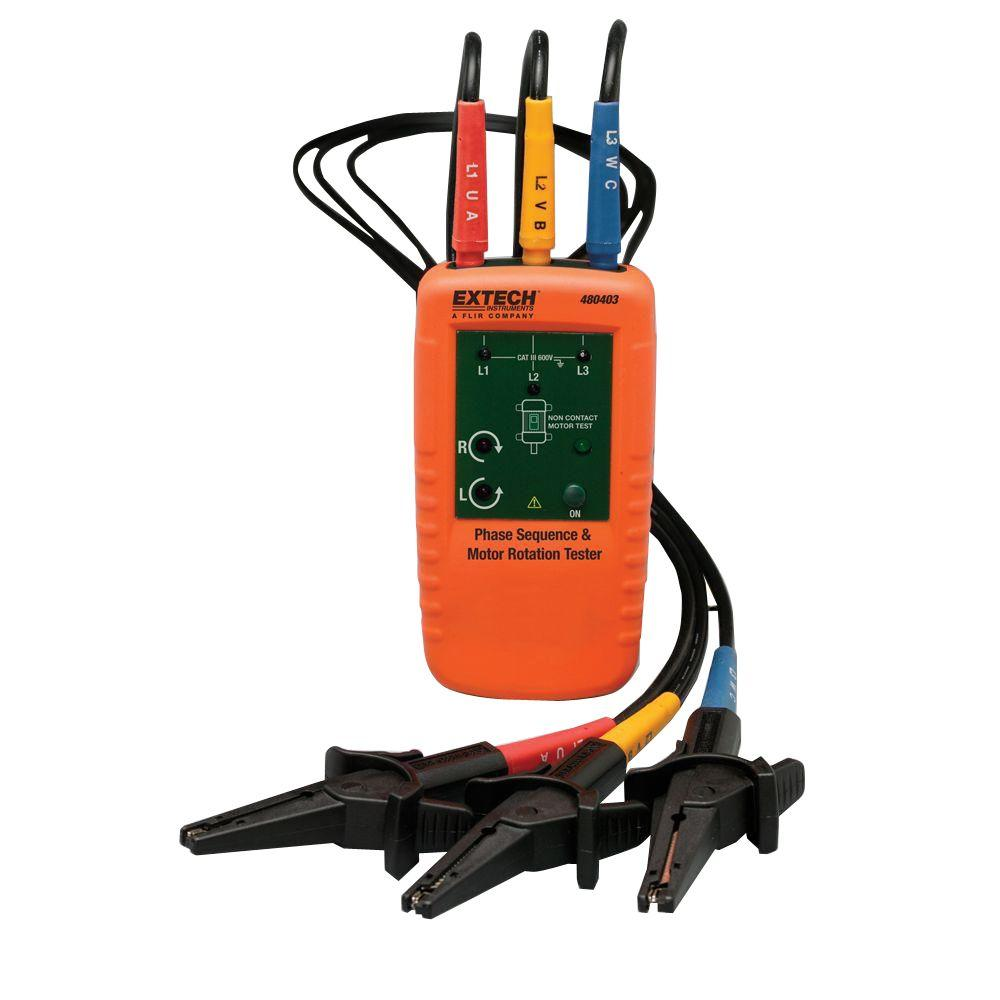 Wiggy Voltage Tester Parts : Extech instruments motor rotation and phase tester