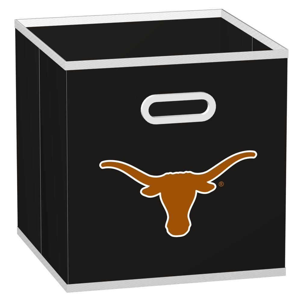 MyOwnersBox College Storeits University of Texas 10-1/2 in. x 11 in. Black Fabric Storage Drawer