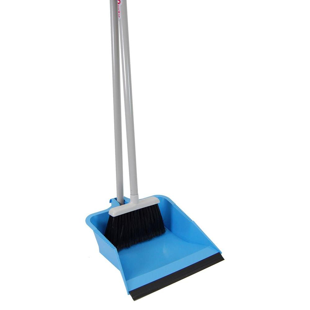 Quickie HomePro Flip Lock Dust Pan and Lobby Broom