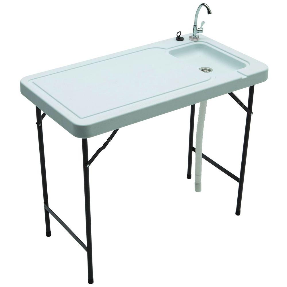 TriCam Fish And Game Table With Quick Connect Stainless Steel Faucet