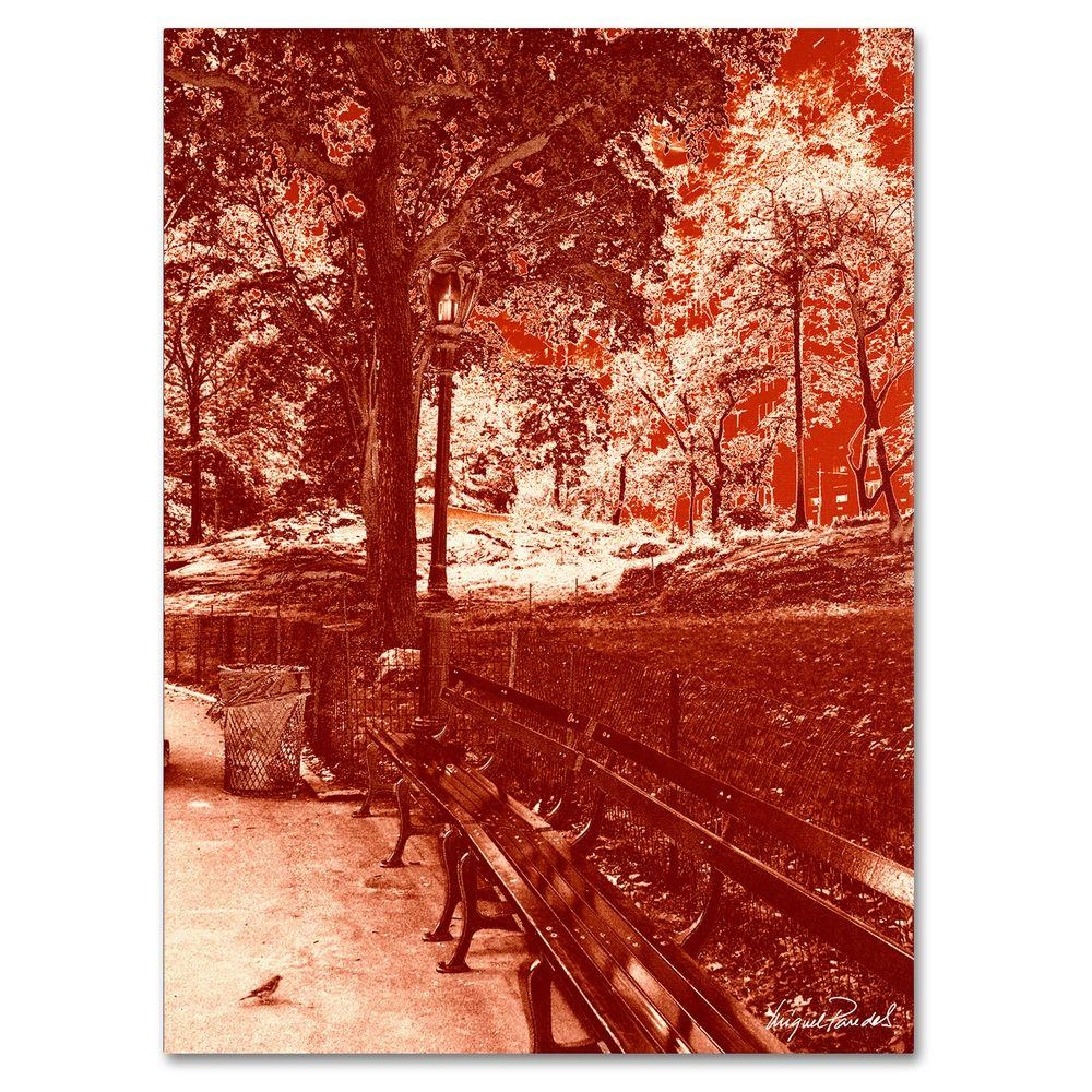 Trademark Fine Art 24 in. x 32 in. Red Forest Canvas