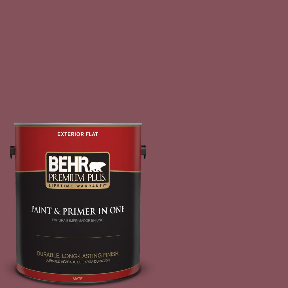 1 gal. #PPU1-15 So Merlot Flat Exterior Paint