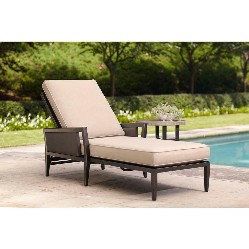 Greystone Patio Chaise Lounge with Sparrow Cushions -- STOCK