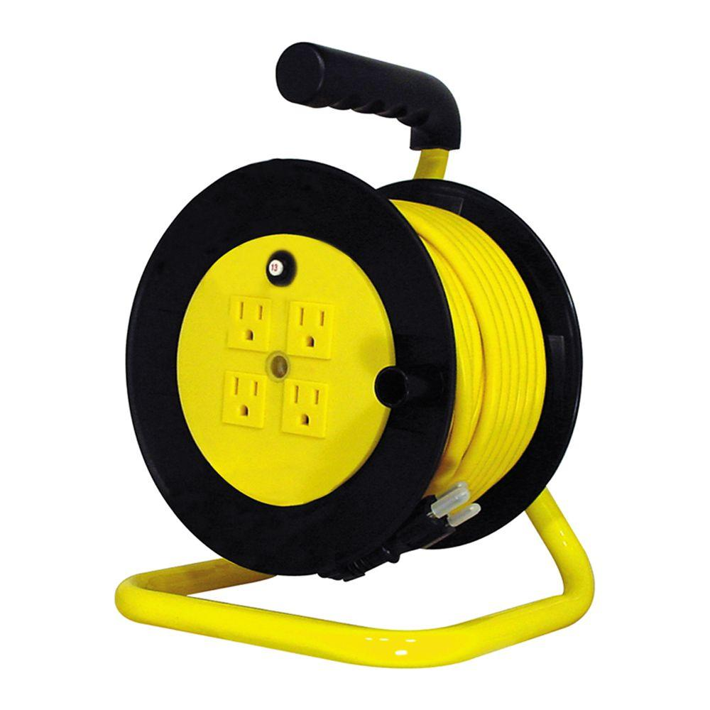 Tasco 40 ft. 14/3 Open Cord Reel with 4 Outlets-DISCONTINUED
