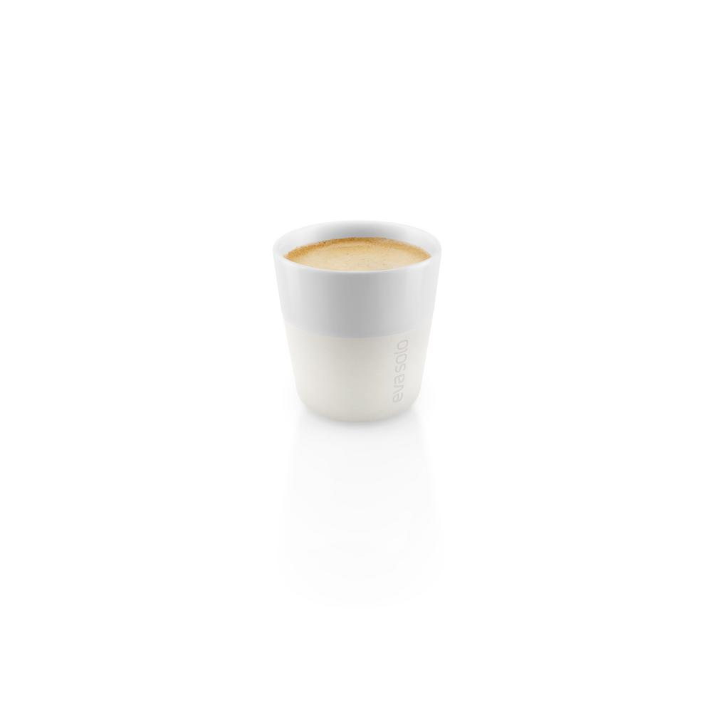 3 oz. Porcelain Espresso Tumbler with Silicone Sheath in Ivory White,