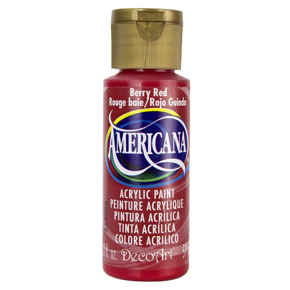 Americana 2 oz. Berry Red Acrylic Paint