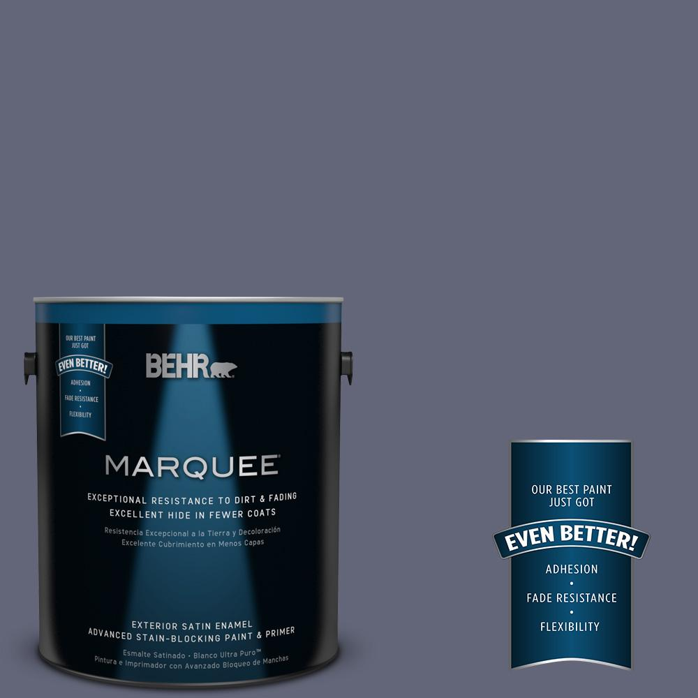 BEHR MARQUEE 1-gal. #630F-6 Violet Evening Satin Enamel Exterior Paint