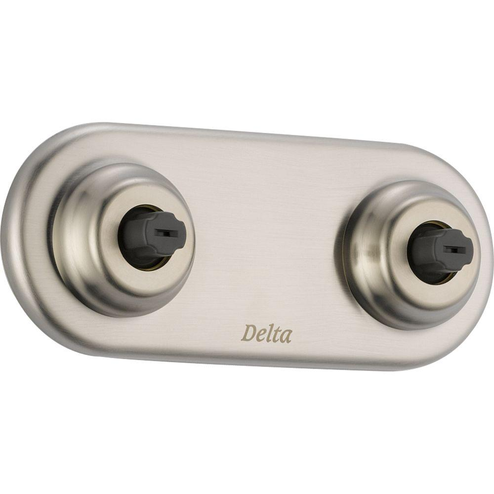 Delta Innovations Jetted Shower XO Jet Module Trim Kit Only in Stainless Featuring H2Okinetic (Valve Not Included)