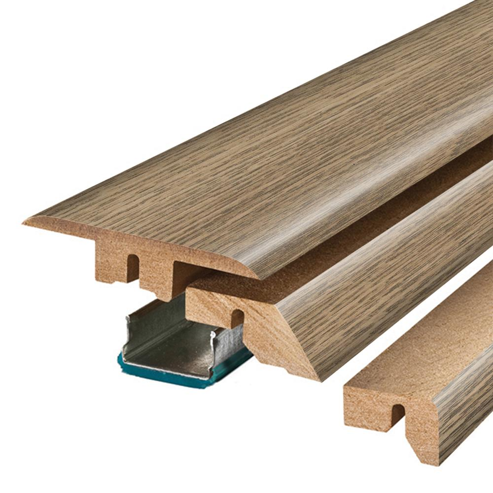 Pergo Southport Oak 3/4 in. Thick x 2-1/8 in. Wide x 78-3/4 in. Length Laminate 4-in-1 Molding, Light
